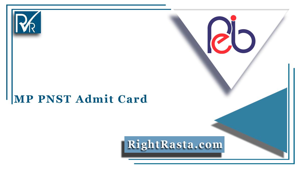 MP PNST Admit Card