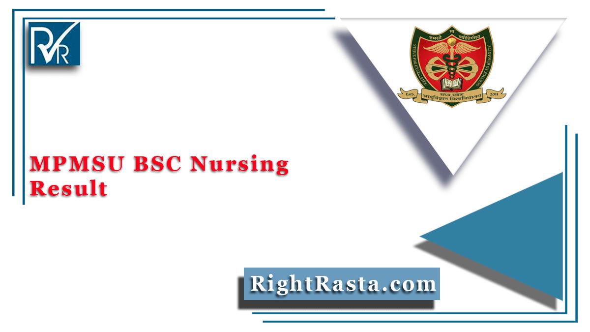 MPMSU BSC Nursing Result