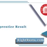 NFR Apprentice Result 2021 (Out) | Northeast Frontier Railway Merit List