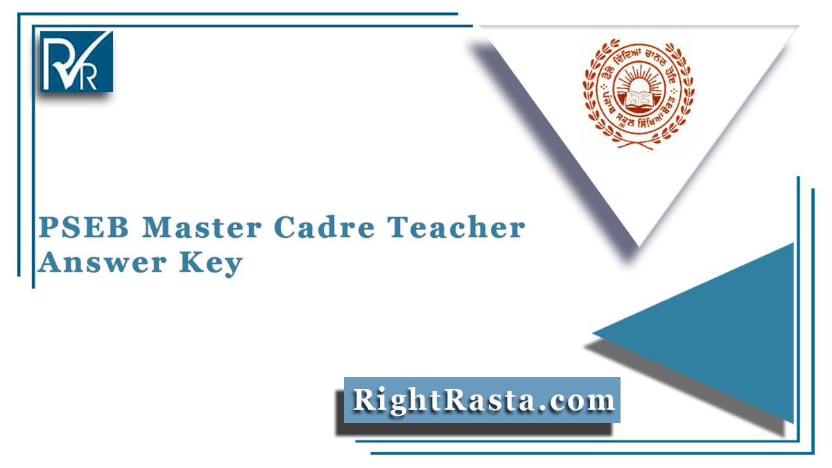 PSEB Master Cadre Teacher Answer Key