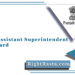 PSSSB Assistant Superintendent Admit Card 2021 (Out) | SSSB Punjab Hall Ticket