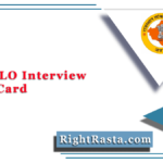 RPSC JLO Interview Admit Card 2021 (Out) | Download JLO Interview Letter