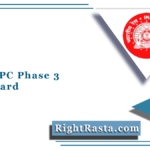 RRB NTPC Phase 3 Admit Card 2021 | Download Railway 3rd Phase Exam Hall Ticket
