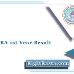 RRBMU BA 1st Year Result 2020 (Out)   Matsya University B.A Part 1 Results