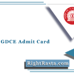 RRC NR GDCE Admit Card 2021 (Out) | Download Railway NR Hall Ticket