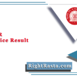 RRC SER Apprentice Result 2021 (Out) | Download South Eastern Railway Merit List