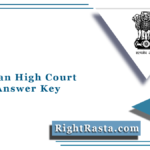 Rajasthan High Court Driver Answer Key 2021 (Out) | RHC Chauffeur Answer Sheet
