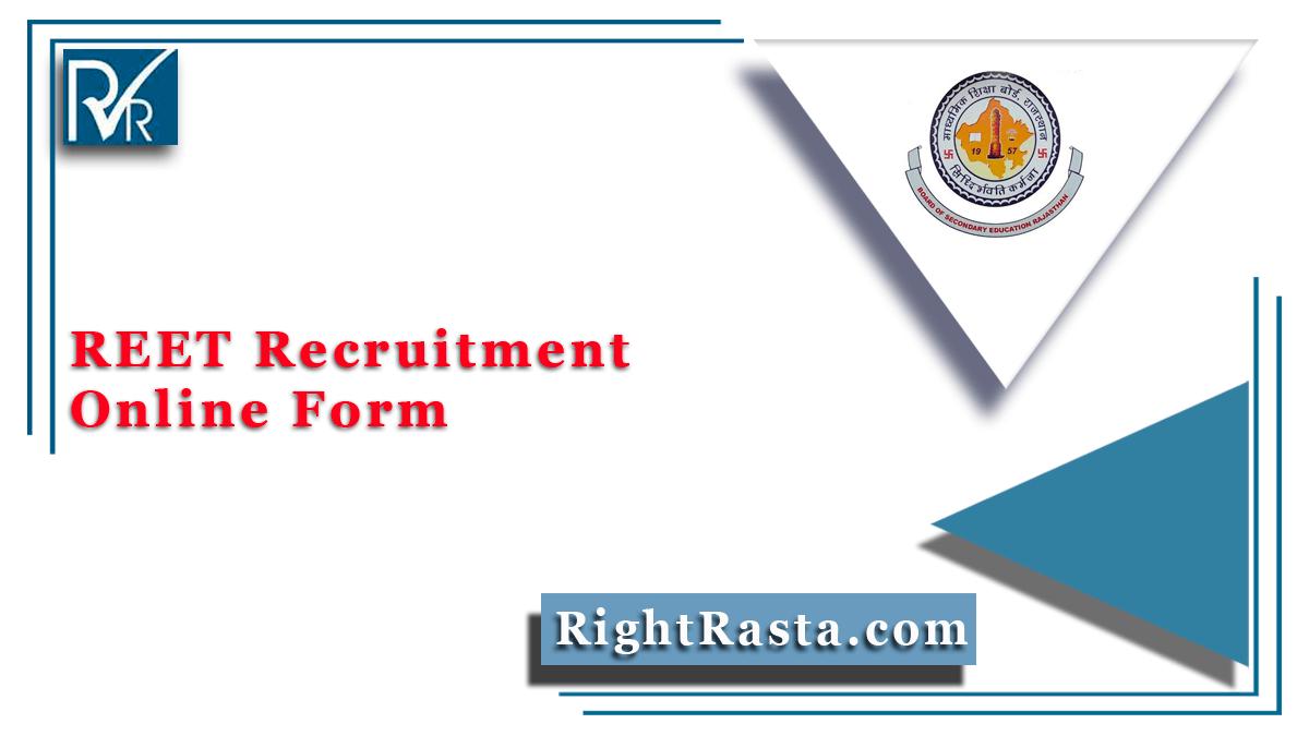 Rajasthan REET Recruitment Online Form
