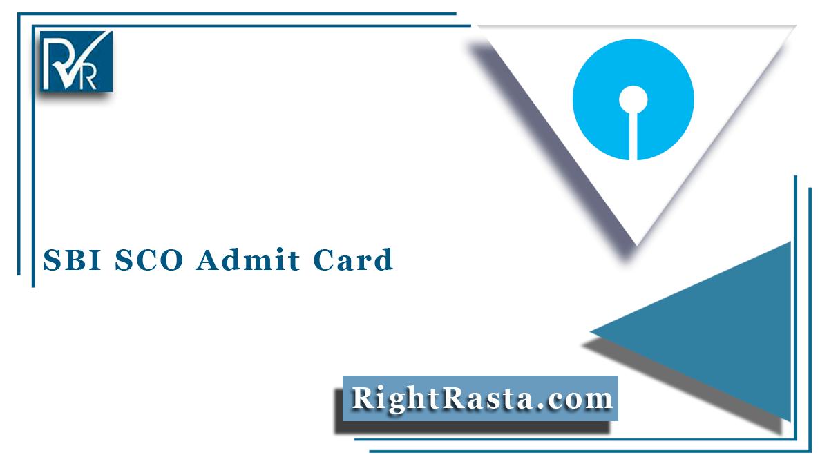 SBI SCO Admit Card