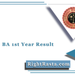 UNIRAJ BA 1st Year Result 2020 (Out) | Download RU B.A. Part 1 Results