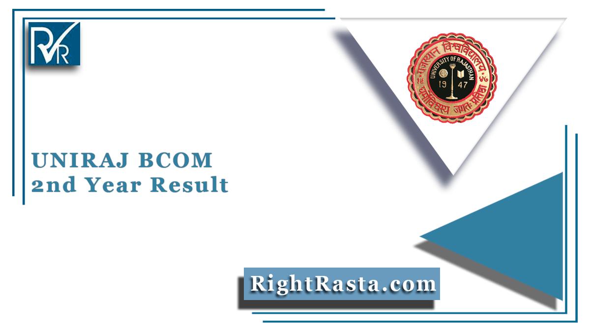 UNIRAJ BCOM 2nd Year Result