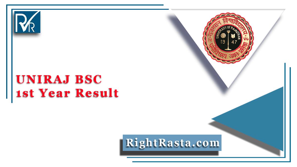 UNIRAJ BSC 1st Year Result