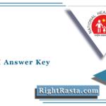 UP NHM Answer Key 2021 (Out) | SAMS UP ANM, Staff Nurse Answer Sheet