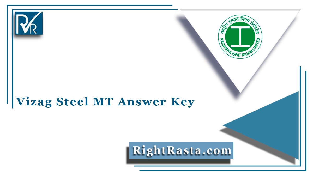 Vizag Steel MT Answer Key
