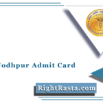 AIIMS Jodhpur Admit Card 2021 (Out) | Download JE AE Law Officer Other Hall Ticket