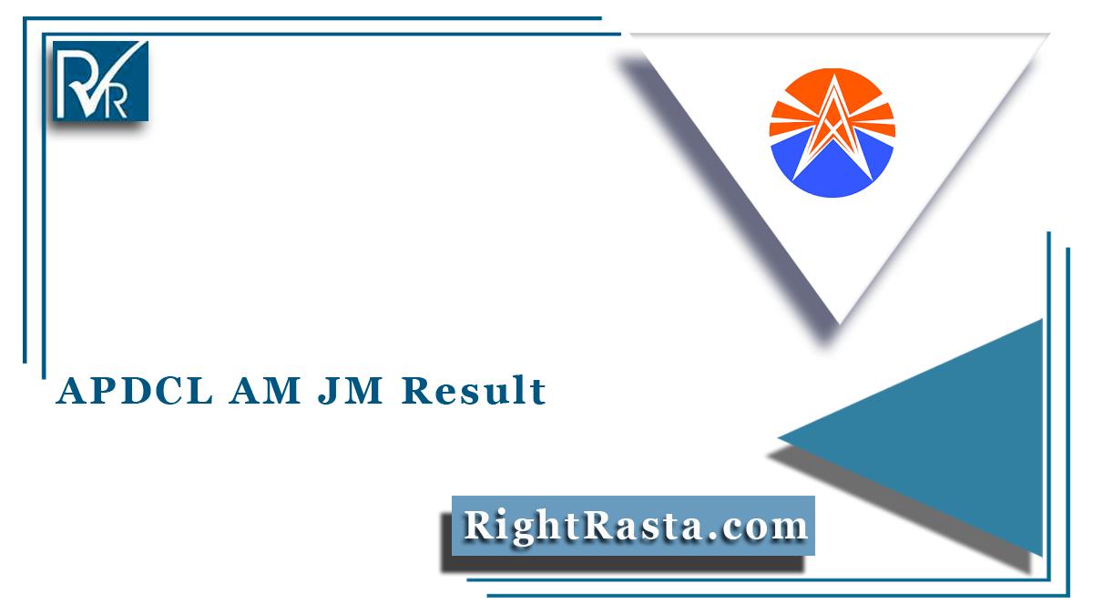 APDCL AM JM Result