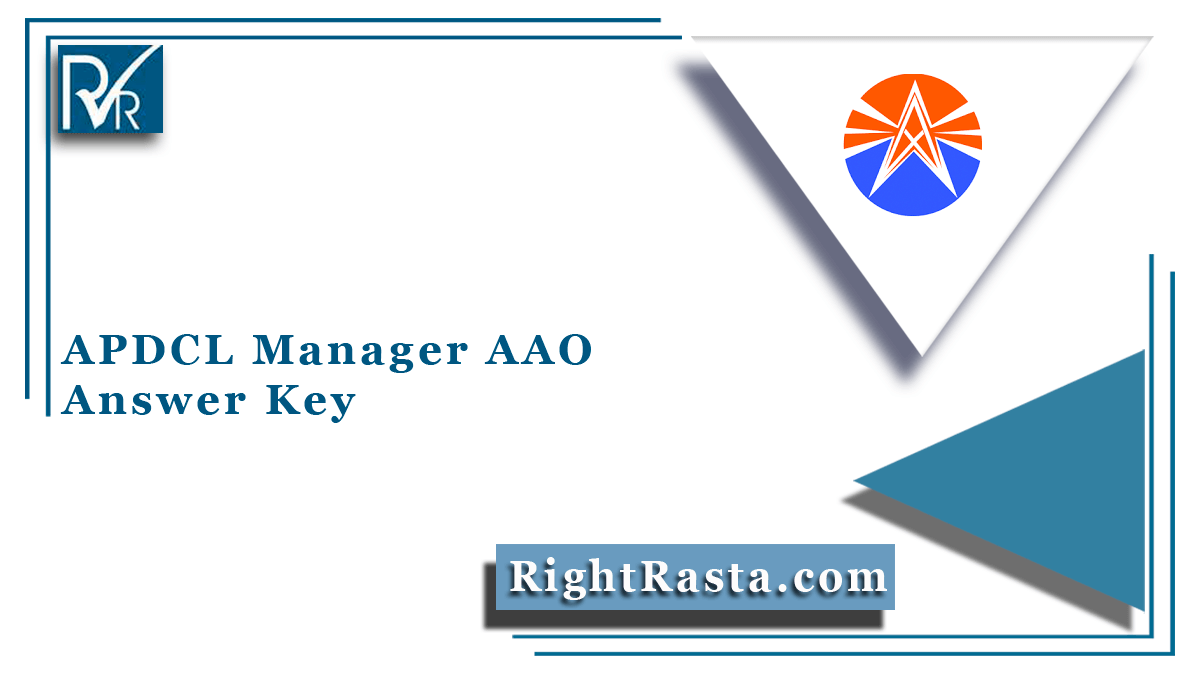APDCL Manager AAO Answer Key