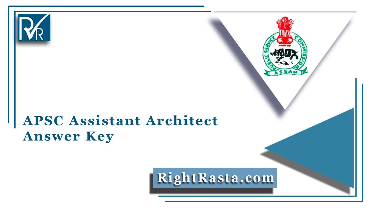APSC Assistant Architect Answer Key