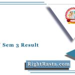 BKNMU Sem 3 Result 2020 (Out) | BA, BSC, BCOM, BCA, BBA, BRS Results