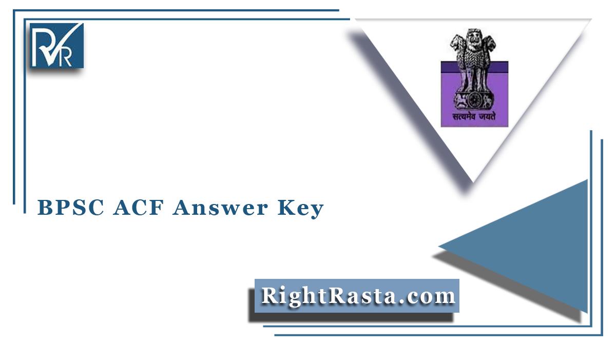 BPSC ACF Answer Key