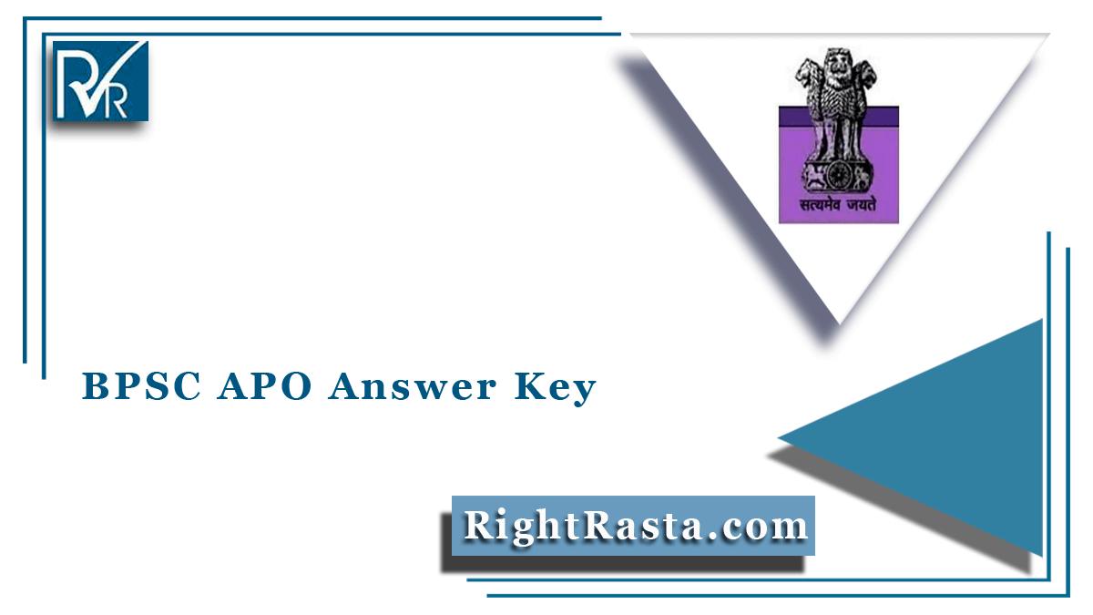BPSC APO Answer Key