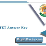 CBSE CTET Answer Key 2021 | Central Teacher's Eligibility Test Answer Sheet