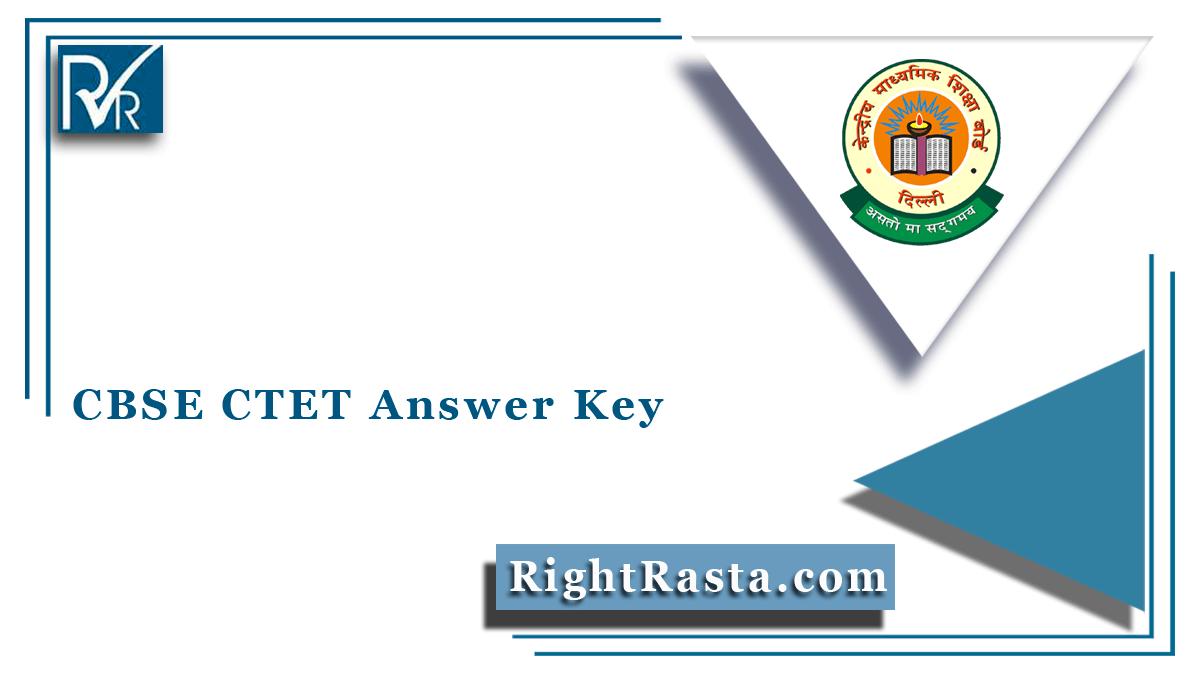 CBSE CTET Answer Key