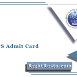 DAE DPS Admit Card 2021 (Released) | Download Group B, C Hall Ticket