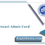 DDA Patwari Admit Card 2021 (Out) | Download DDA Stage 2 Hall Ticket