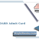 DSSSB OARS Admit Card 2021 (Out) | Download OARS Registration Hall Ticket