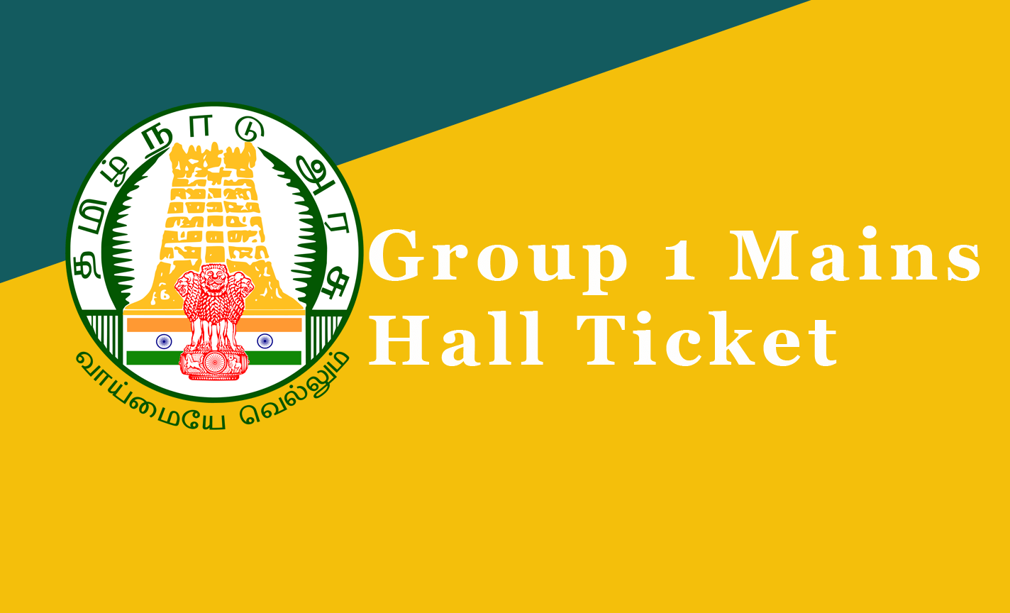 Group 1 Mains Hall Ticket 2021
