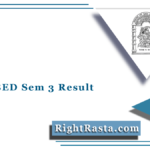 HNGU BED Sem 3 Result 2020 (Out) | Download NGU B.Ed Semester 3rd Results