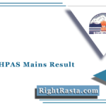 HPPSC HPAS Mains Result 2021 (Out) | Download HP HAS Mains Merit List