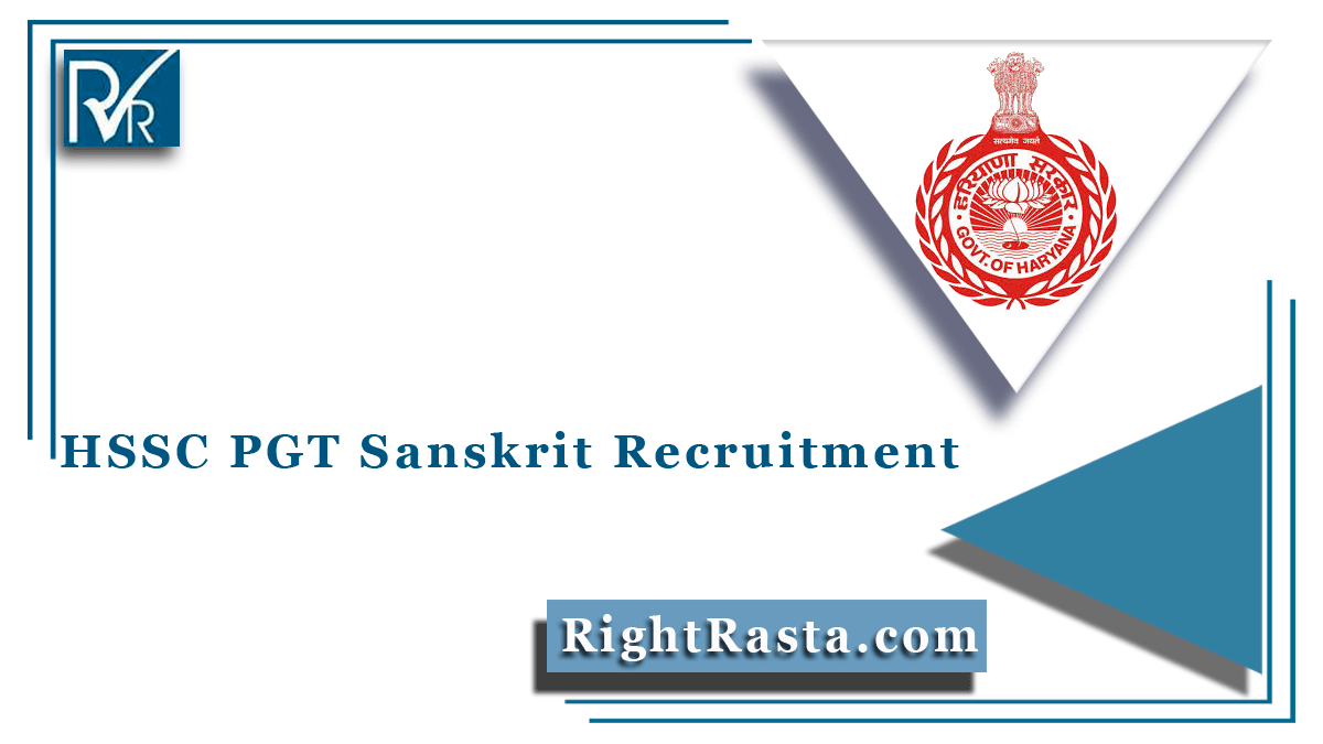 HSSC PGT Sanskrit Recruitment