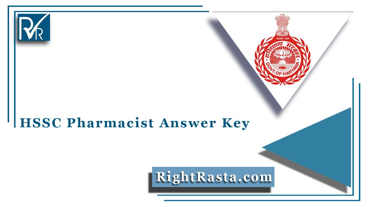 HSSC Pharmacist Answer Key
