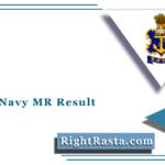 Indian Navy MR Result 2021 (Out)   Download October 2020 Batch Merit List