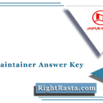 JMRC Maintainer Answer Key 2021 (Out) | Download Jaipur Metro Solution Sheet