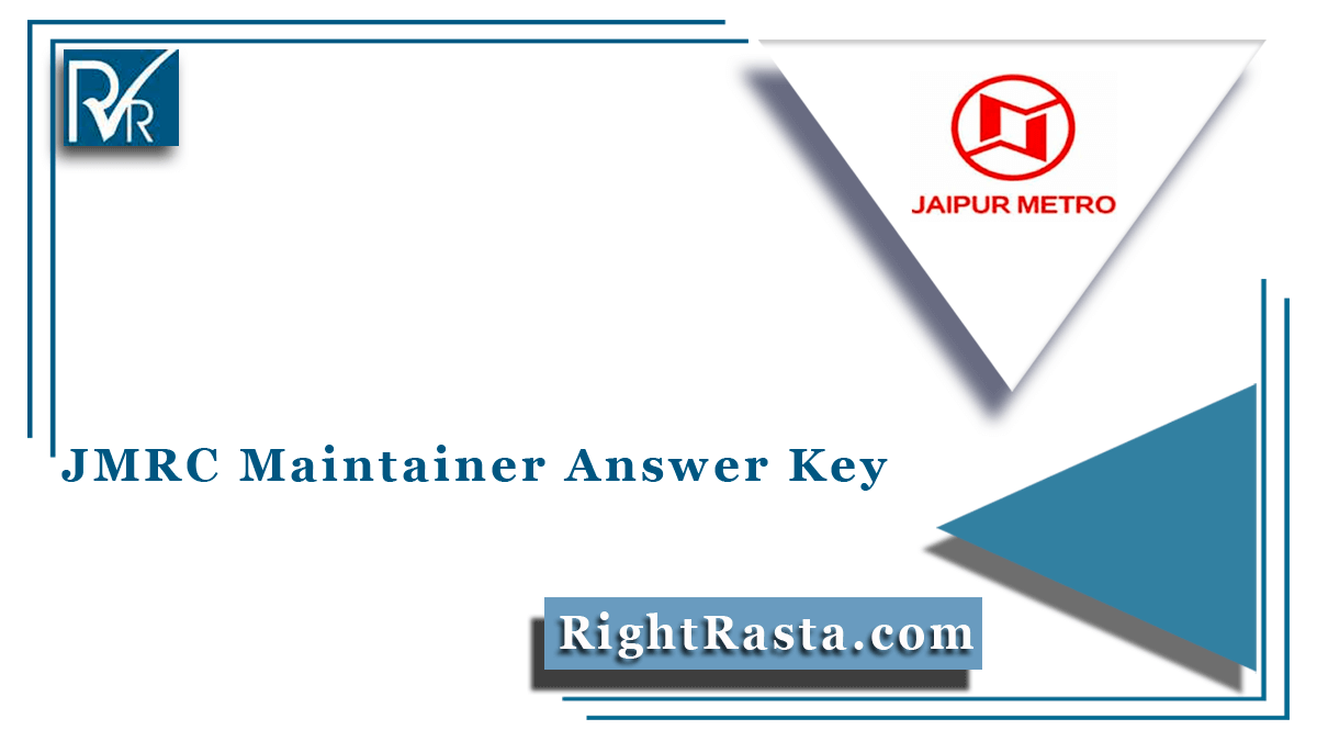 JMRC Maintainer Answer Key