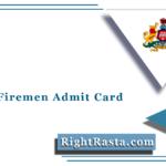 KSFES Fireman Admit Card 2021 (Out) | Download KSP PST PET Hall Ticket