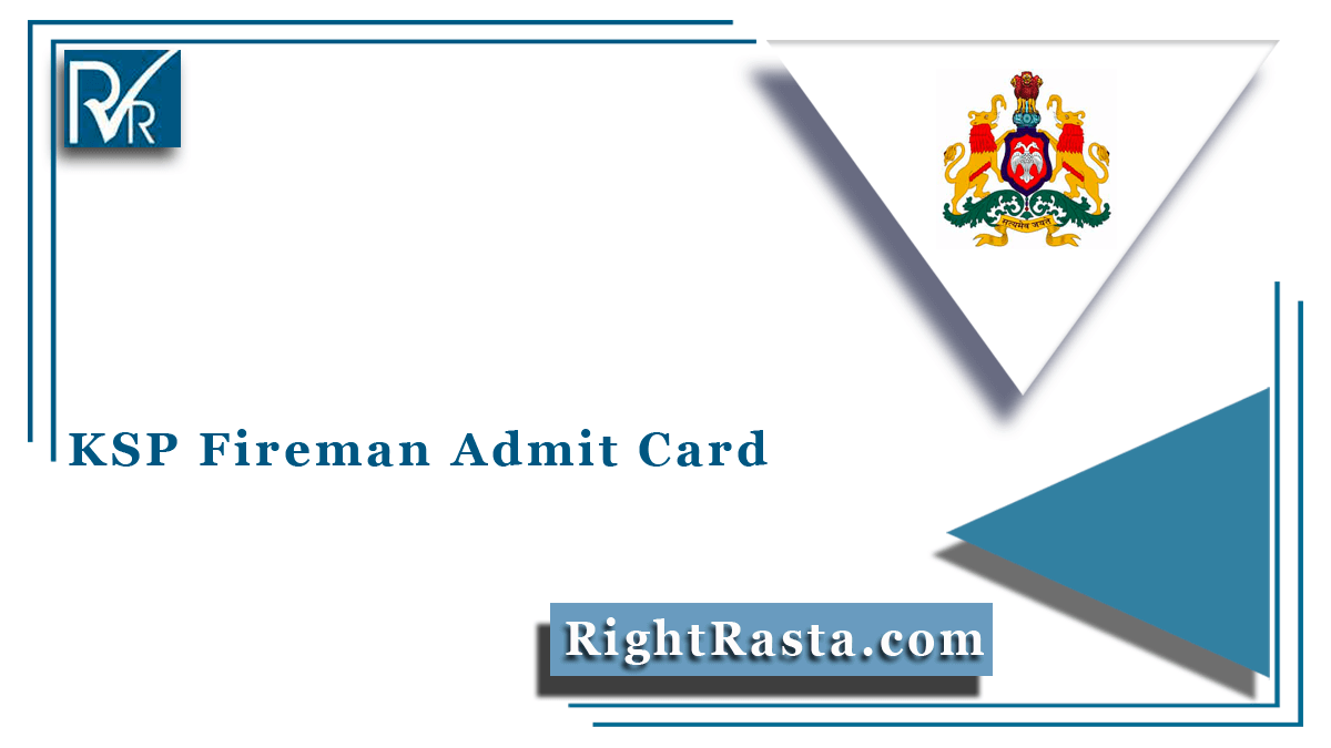 KSP Fireman Admit Card