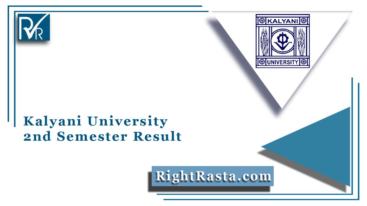 Kalyani University 2nd Semester Result