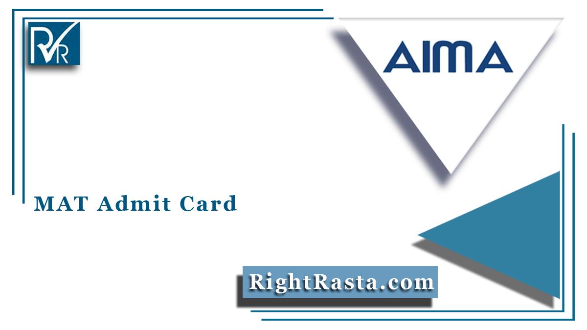 MAT Admit Card
