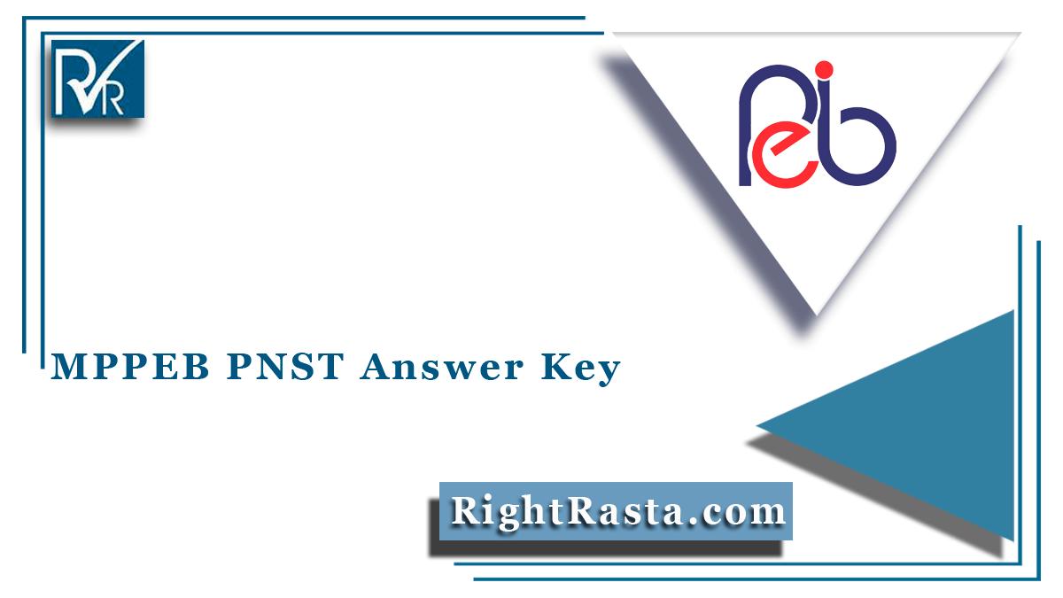 MPPEB PNST Answer Key