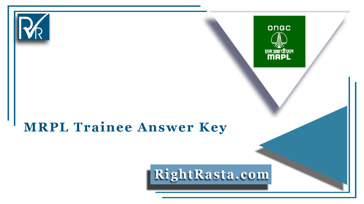 MRPL Trainee Answer Key