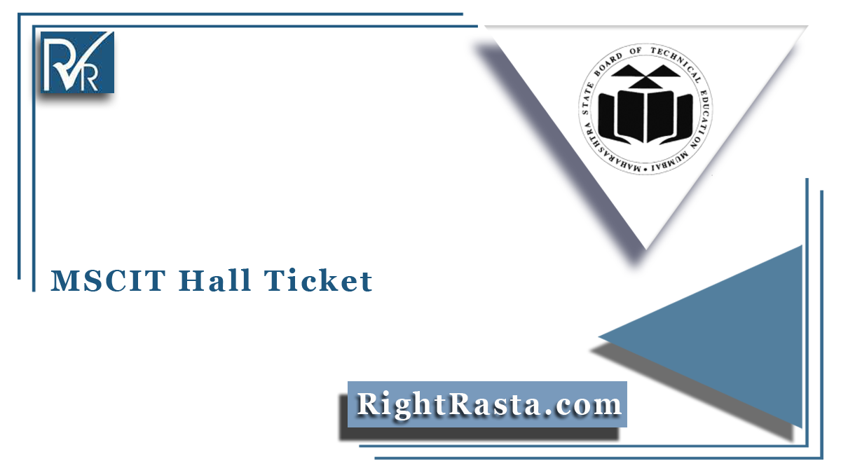 MSCIT Hall Ticket