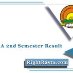NEHU BA 2nd Semester Result 2021 (Out) | Bachelor of Arts Sem 2 Results
