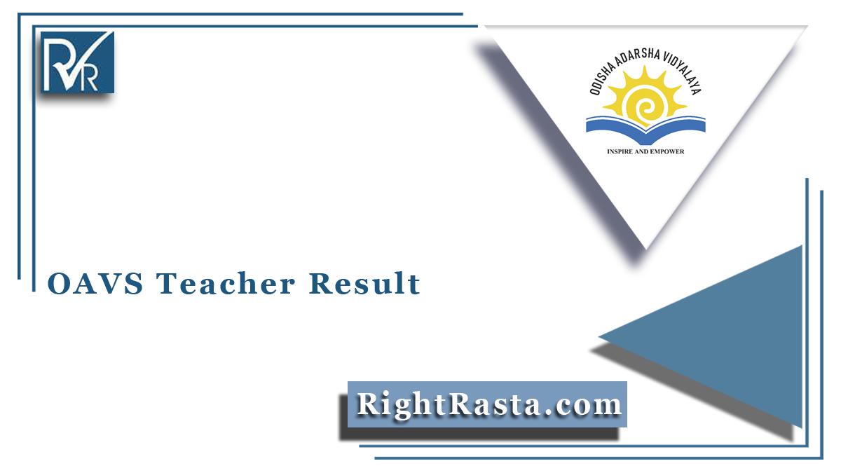 OAVS Teacher Result