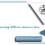 OSSSC Nursing Officer Answer Key 2021 (Out) | Odisha Staff Nurse Exam Key