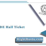 PGRRCDE Hall Ticket 2021 (Out) | Osmania University 1st 2nd 3rd Year Admit Card
