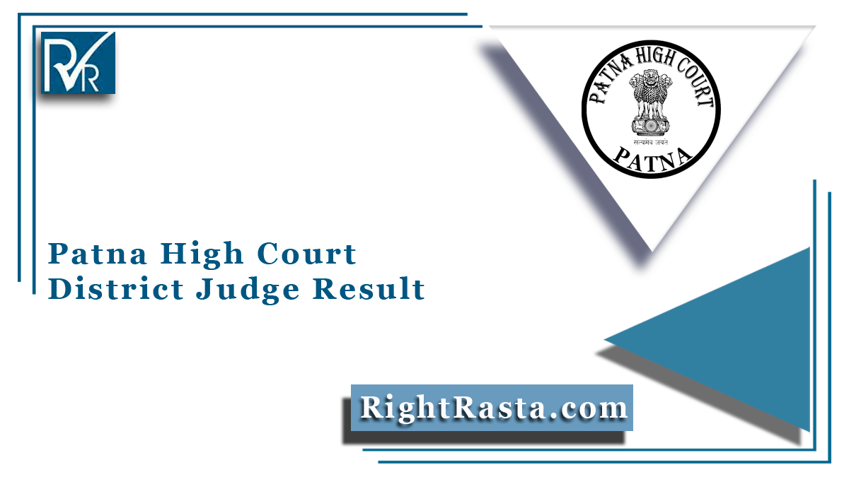 Patna High Court District Judge Result